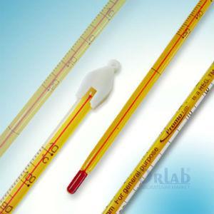 PROMOLAB® Ekonomik Termometre, Civalı, -20+110°C, Taks.1°C, TOT, 305 mm